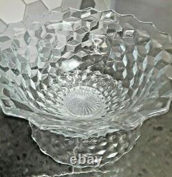 Stunning FOSTORIA AMERICAN 18 Punch Bowl 3Pc Set Mid Century Serving Glass NICE