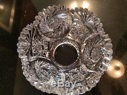 Stunning Rare Antique Cut Glass Large Punch Bowl Base