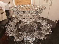 Stunningly Gorgeous Antique 14 Cup Punch Bowl Very Old