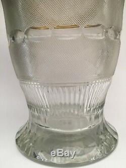 Superb MOSER Splendid Collection Gold Crystal Glass & Enamel PUNCH BOWL