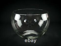 Susquehanna Cut Six Point Star Punch Set, Vintage Elegant Glass Bowl Cups Ladle