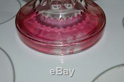Tiffin Kings Crown Ruby Flash Thumbprint Base Stand For Punch Bowl