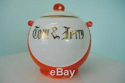 Tom & Jerry Punch Bowl & Cups 12 Pcs Set Orange