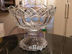 UBER RARE Antique Gorgeous 18 Cup Punch Bowl on Base Rarest i have