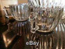 Uber Rare Antique 10 Cup Punch Bowl Set