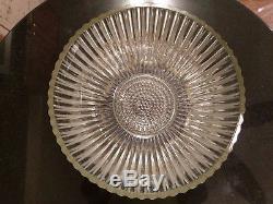 Uber Rare Antique 12 Cup Punch Bowl. Base & Platter Set