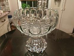 Uber Rare Possible Prototype Pressed Glass Punch Bowl on Base
