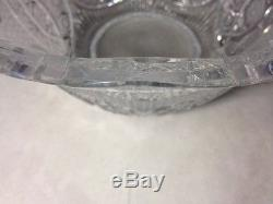 Unusual Stunning Large Cut Glass Punch Bowl