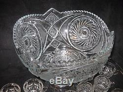 Girl vintage crystal punch bowl erotic