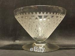 Vintage Baccarat Crystal Punch/fruit Salad Bowl And 5 Small Bowls