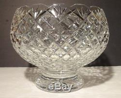 VINTAGE Waterford Crystal HERITAGE Master Cutter Footed Punch Bowl 10