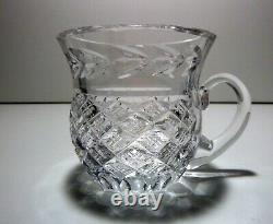 VINTAGE Waterford Crystal MASTER CUTTER Massive Punch Bowl & Cup 10 piece set
