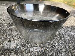 VTG Mid Century Modern Dorothy Thorpe Silver Fade 15-PC Punch Bowl Barware Set