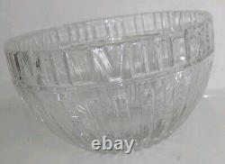 VTG Tiffany & Co Crystal Atlas Punch Bowl 10 Diameter With Roman Numerals