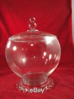 Very Rare Imperial Snack Jar And Lid Like Family Punch Bowl 400/139/1