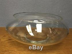 Vintage 17pc Crystal Moderno Punch Bowl Set Riekes Crisa Cups Ladle Hand Blown