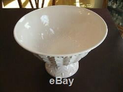 Vintage 1950's Jeanette Pink Milk Glass Punch Bowl Set with Bowl, Stand, 12 cups