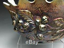 Vintage Amethyst Northwood Carnival Glass Punch Bowl
