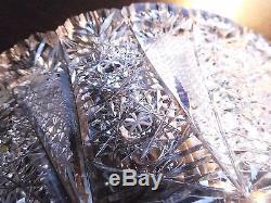 Vintage Antique CRYSTAL CUT GLASS Punch Bowl FRUIT DISH TOP DESIGN RRRRRR
