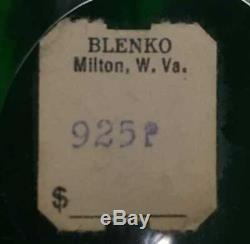 Vintage BLENKO Glass Winslow Anderson Emerald Green Huge Punch Bowl Set 925P