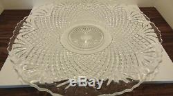 Vintage Collectible Cut Crystal Punch Bowl With 24 Glasses