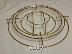 Vintage Culver Seville Blue Gold Punch Bowl 12 Roly Poly Glasses, Caddy, Laddle