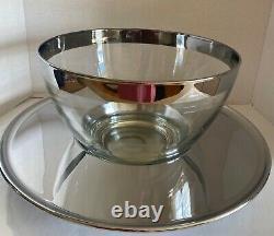 Vintage Dorothy Thorpe Roly Poly Punch Bowl Set. Tray, Bowl, Ladle, 22 glasses
