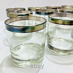 Vintage Dorothy Thorpe Silver Band Glass Punch Bowl Wedding Shower Anniversary