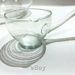 Vintage Dorothy Thorpe Silver Band Glass Punch Bowl Wedding Shower Anniversary