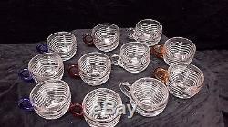Vintage Duncan Miller Punch Bowl Set Caribbean Pattern