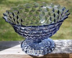 Vintage FOSTORIA American BLUE 12 Small Punch Bowl / Fruit / Tom & Jerry Bowl