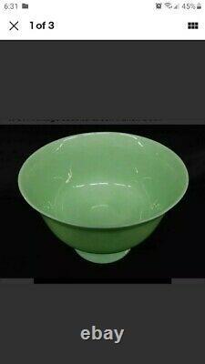Vintage Fire King Green Jadeite Pedestal Punch Bowl