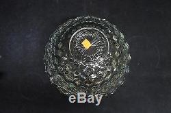 Vintage Fostoria American 14 Crystal Punch Bowl #2056 Centerpiece Cube Juice