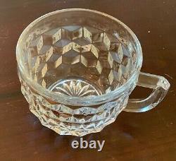 Vintage Fostoria Punch Bowl & Stand, Platter, 35 Punch Cups & 35 Dessert Plates