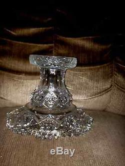Vintage Hand Cut Crystal Punch Bowl / W 11 Cups