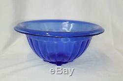 Vintage Hazel Atlas Cobalt Blue Punch Bowl Set