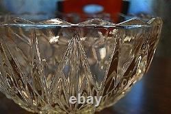 Vintage Hazel Atlas Williamsport Square Punch Bowl, 10 matching cups