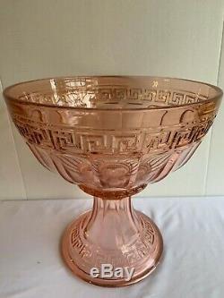 Vintage Heisey Elegant Glass Punch Bowl Set Rare