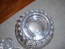 Vintage Imperial Candlewick Punch Bowl Lid, And Ladle