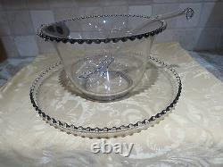 Vintage Imperial Candlewick Punch Bowl and Tray