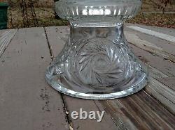 Vintage L E Smith Aztec 15 pc Punch Bowl Set with Stand 12 Cups Hobnail Ladle