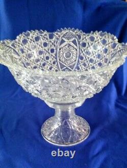 Vintage L. E. Smith Glass Daisy and Button Punch Bowl Set