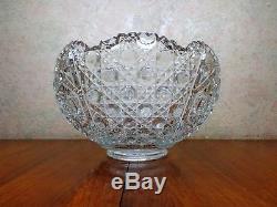Vintage LE Smith Daisy & Button Punch Bowl Set Ladle 12 Cups EXCELLENT CONDITION