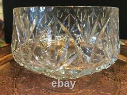 Vintage Large Lead Crystal Bowl Punch / Fruit Bowl Cut Glass