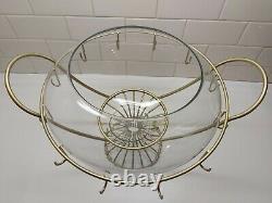 Vintage MCM Rare Federal Glass Danish Modern Punch Bowl Set