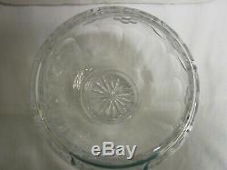 Vintage Nachtmann Germany crystal punch bowl set with 12 cups