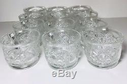 Vintage Pitman Dreitzer 15 Piece Crystal PUNCH Bowl 12 CUPS LADLE BRASS STAND