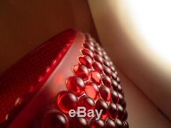 Vintage RARE Smith Ruby Red Glass Hobnail Punch Bowl