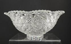 Vintage Smith Glass Daisy Button Clear Punch Serve Bowl Discontinued 17 1/2 W9