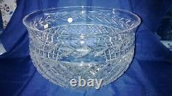 Vintage Waterford Crystal Glandore Punch bowl Hand Made with Waterford Acid Mark